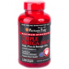Puritan's Pride Triple Omega 3-6-9 Maximum Strength 120 Softgels
