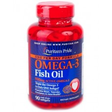 Puritans Pride One Per Day Omega-3 Fish Oil 1360 mg 90 softgels