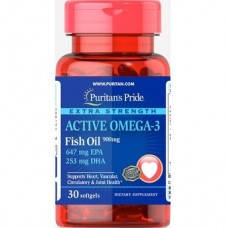 Puritan's Pride Extra Strength Active Omega-3 Fish Oil 30 caps
