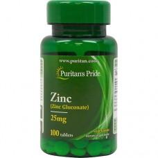 Puritan's Pride Zinc Gluconate 25 mg 100 tabs.